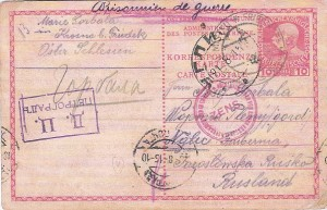 celistvost - zajatecká pošta