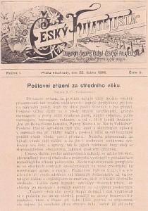 časopis Český filatelista - titulní strana