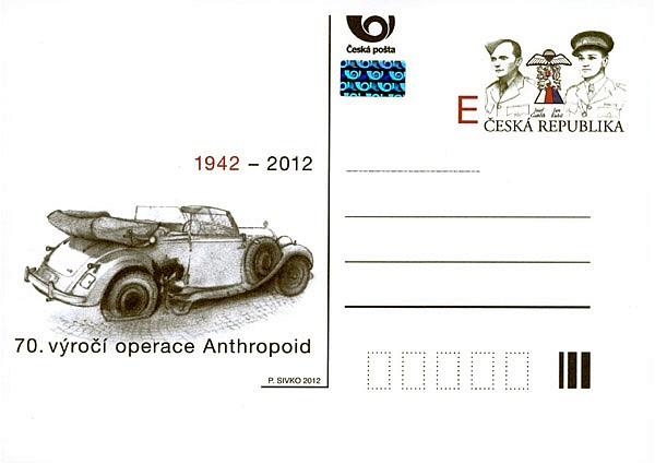 Poštovní dopisnice - 70. výročí operace Anthropoid