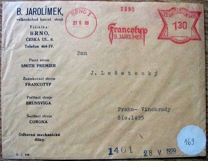 Brno 1, Jarolímek - květen 1929