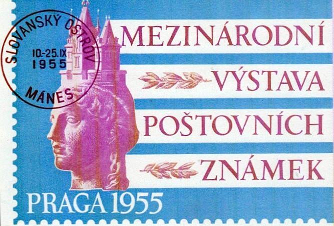 Výstavní plakát k výstavě PRAGA 1955