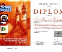 KF 00-15 Praha – diplom za exponát ve třídě literatury