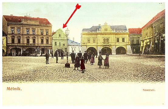 """Dům """"U Zlaté hvězdy"""", pošta v letech 1845 - 1893"""