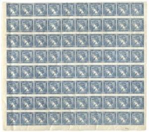 80 blok modrého Merkura